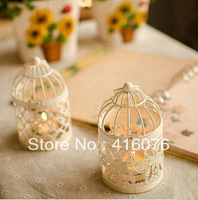 Free Shipping! Classic Birdcage Metal Lantern Romantic Feelings Iron Candle Holder  Wedding Gift Decoration Mixed Designs! C1010