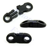 D1920Pcs Buckles Black For Paracord Bracelets Plastic Clasp Side Release New