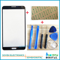 Outer LCD Screen Lens Top Glass for Samsung GALAXY Note 3 N9006 with Open tools Black Color 3M sticker,Free Shipping