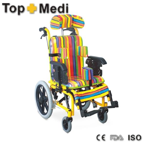 FS985LBGY alumínio leve cadeiras de rodas de reclinação para criança cerebral 7-15 anos de idade(China (Mainland))