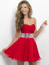 A-Line 2014 Sweetheart SleevelessShort Cocktail Dresses/Prom Dresses FD419 In Stock(China (Mainland))