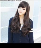 Newest 2014 Long Wavy Hair Beautiful Brown Wig,Fashion Promotion, Kanekalon Wigs For Women Supernova Sale