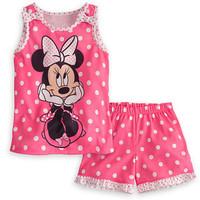 2014 New arrival girls Minnie dot suit vest + shorts 2pcs set suits baby girls summer suit wholesale and retail Polka Dot Set