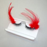 2014 NEW fashion multicolour feather uddhistan false eyelashes free shipping