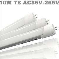 Best deal ! 10w 100pcs/lot Natural White 4000-4500k T8 AC85-265v 0.6m 600mm SMD3014 LED Tube led fluorescent light