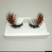 5 pair/ lot Professional fashion multicolour feather long lips buddhistan false eyelashes