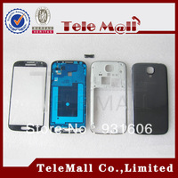Free Shipping ! Original Blue/Black Full Housing Cover Front Middle Frame/battery door with glass For Samsung Galaxy S4 i9500