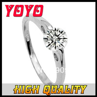 2014 Hot Sale Freeshipping Rose Plant Hot Fashion 18k Rose Imitation 1 Carat & Arrows Diamond Ring with Rings for Women,ijz056