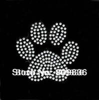 Bear's paw print design hot fix rhinestone , heat transfer design iron on motifs,applique,wholesale (ss-2362)