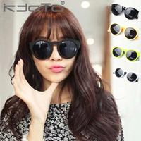 2014 Sale Limited Freeshipping Adult Steampunk Sunglasses Male Sunglasses Star Style Scrub Quality Circle Box Sun Glasses Female