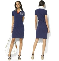 Free Shipping New 2014 Hot Sell Women Shirts,Women polo Dress,Cotton Skirt,Cotton  Dress Four Colors Size:S-XL PL0005