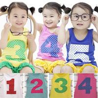2013 summer the appendtiff digital boys clothing girls clothing baby child vest tx-1938