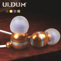ULDUM 2014 audio high quality earphones with mic hot selling