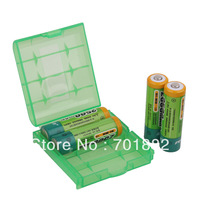 Hard Plastic Case Holder Storage Box AA AAA Battery batteries Portable 4pcs/lot