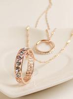 Fall in love korean ' multi-layer elegant sparkling diamond long design necklace pendant accessories