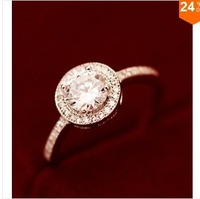 carina jewelry Luxury zircon artificial diamond ring female finger ring