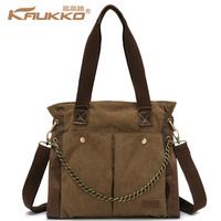 Winter canvas bag casual fashion women's handbag vintage  women's shoulder bag large bag #2049