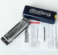 New Hohner Beginner international Silver Star 10 hole harmonica Diatonic key C Blues Jazz band Music instrument wholesale