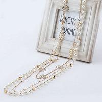 Korean version of sweater chain length multi pearl fashion accessories retro sweater chain necklace decorated female jewelry