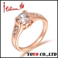 2014 Seconds Kill Freeshipping Rose Plant Women New Fashion Jewelry18k Ring Imitation 1 Carat Diamond Rings for Women,ijz066