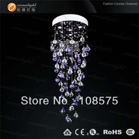 Dia30*H60cm L4 Modern crystal Ceiling Light Dinner Room Pendant Lamp Kitchen Lighting Bar Chandelier lamps Free Shipping OM9172E