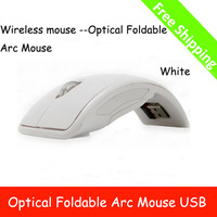 Free Shipping Wireless mouse --Optical Foldable Arc Mouse,Snap-in Transceiver,New 2.4Ghz logitech wireless mouse super slim
