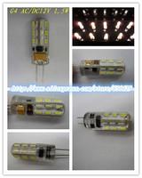 2pcs 2w DC AC 12V Silica gel G4 base led light 24 leds 3014 chip 360 Degree chandelier Bulb Lamp CE ROHS free shipping