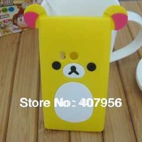 Wholesale New Design Rilakkuma Lazy Bear Soft Back Case for Nokia N9 N9-00,With high quality,10pcs/lot