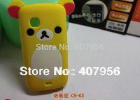 Wholesale New Design Rilakkuma Lazy Bear Soft Back Case for Nokia C5-03,With high quality,10pcs/lot