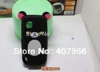 Wholesale New Design Rilakkuma Lazy Bear Soft Back Case for Nokia 5230 5233 5235 5238 5228,With high quality,10pcs/lot