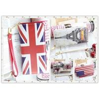 2014 fashion british style american flag long zipper design women's wallet female