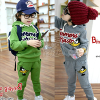 Free Shipping New 2014 spring children clothing set for boys and girls/children hoodies+pants