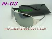100% high quality brand sun glasses designer fashion Men women's silver frame 3321 sunglasses original box