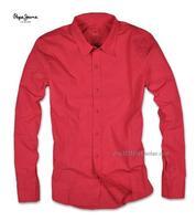 Eslpodcast pepe jeans Men fushia slim long-sleeve shirt