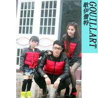 Family fashion cotton-padded jacket winter family set clothes for mother and son lovers outerwear 2013
