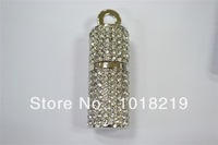 Bulk pen drive jewelry usb disk Silver U disk crystal gift 8gb 16gb 32gb 64gb Bar diamond usb flash drive pendrive free shipping