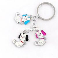 Free shipping baratija perro stylish pet trinket colorful dog souvenirs gift wholesale fashion enamel bag chain for women