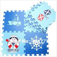 Free shipping-High quatliy 9pcs EVA Blue foam puzzle mats baby crawling mat child  Navy play mats-Chibi Maruko chan