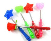 Toy light particles flash stick magic wand neon stick ball props