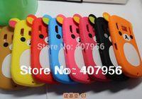 Wholesale New Design Rilakkuma Lazy Bear Soft Back Case for Nokia C7 C7-00,With high quality,10pcs/lot