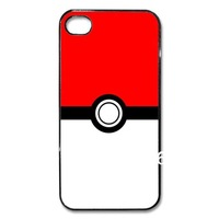Free Shipping Pikachu Pokeball case for iphone 4s 4 hard plastic case mixed order