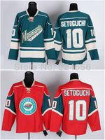 2014 NEW hockey jerseys china Free Shipping Minnesota Wild 10 Devin Setoguchi Red green home Ice Hockey Jersey Authentic Cheap