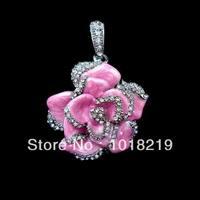 Bulk pen drive jewelry usb disk Pink hibiscus flowers 8gb 16gb 32gb 64gb Bar diamond usb flash drive pendrive  free shipping