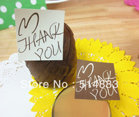 Beige & Brown Color Thank You Printing Seal Sticker,Bakery & Biscuit Sticker,600pcs/lot, Free shipping,LTK-156