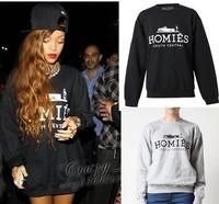 Free shipping New Ladies Womens Homies Print Fleece Sweatshirt Top Jumper Size S M L