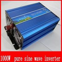 1000W Watts Peak Real pure sine wave 1000W 1000 Watts Power Inverter 12V DC to 220V AC 1000w sine wave + Free shipping