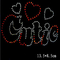 New Design 13.5*8.5cm 10pcs/lot Hot Fix Rhinestone Heat Transfer Design Iron On Motifs Patches Sew On Rhinestone Strass Crystal