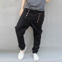 Free shipping Casual pants trousers harem pants plus size male taper skinny pants male pants hiphop