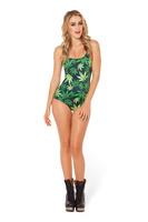2014 fashion outdoor fun & sports 3D weed print Swimwear for women funny galaxy Swimsuit cartoon Bikini