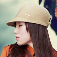 Thantrue dome knight cap woolen hat women's wide brim cap winter hat wool felt hats 3 color free size
